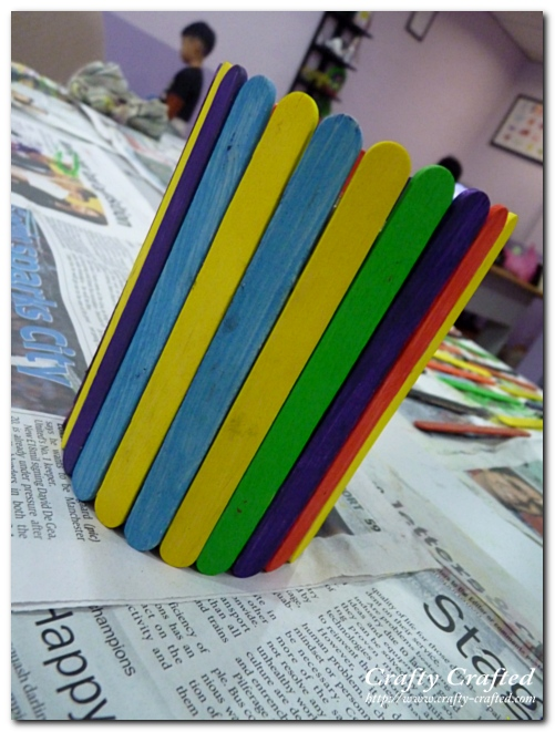 make your own craft stick stationery holder