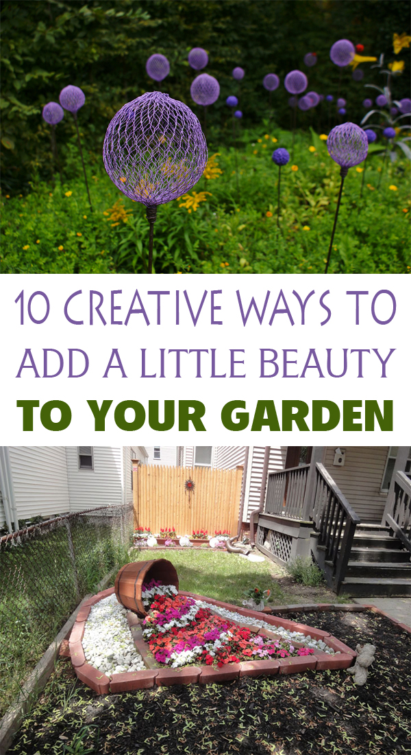 10 Creative Ways to Add a Little Beauty To Your Garden #gardening