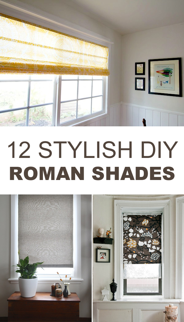 12 Stylish DIY Roman Shades