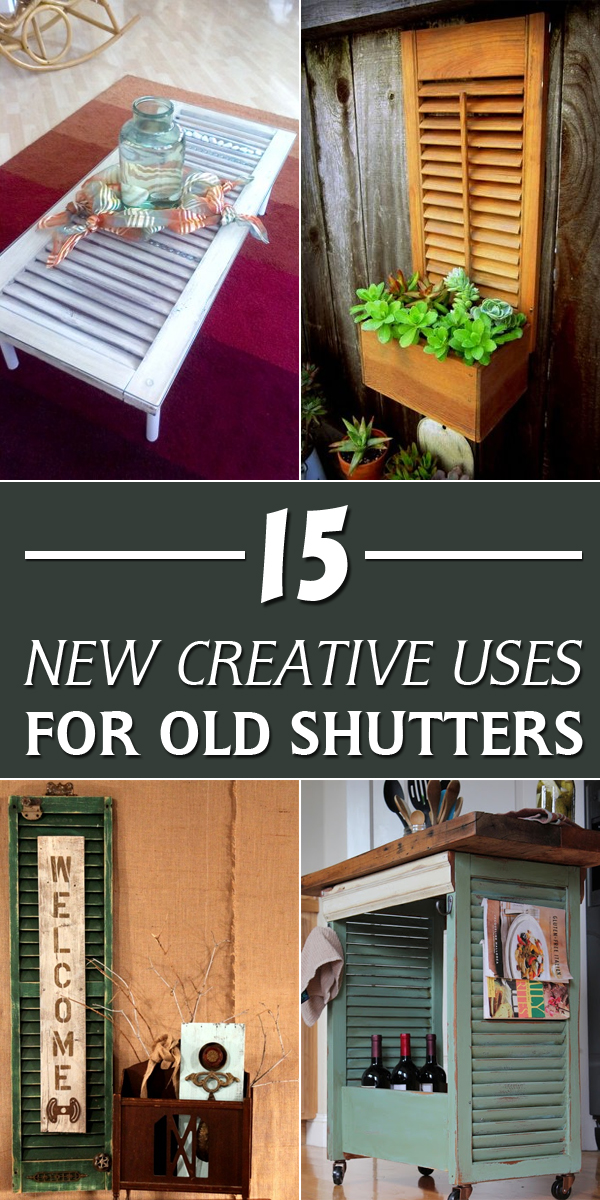 15 New Creative Uses for Old Shutters #DIYProjects