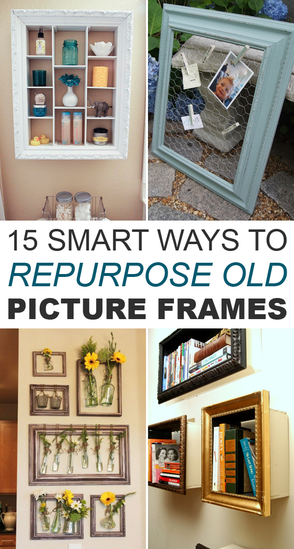 15 Smart Ways to Repurpose Old Picture Frames #DIYideas