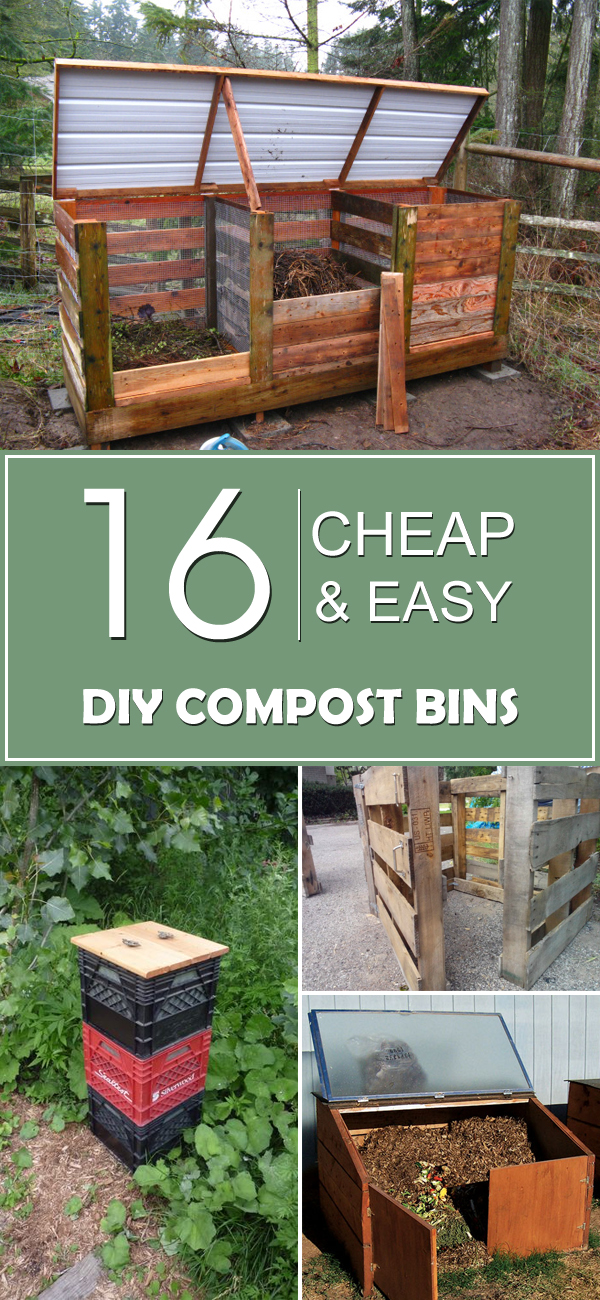 16 cheap easy diy compost bins for Cheapest way to build your own home
