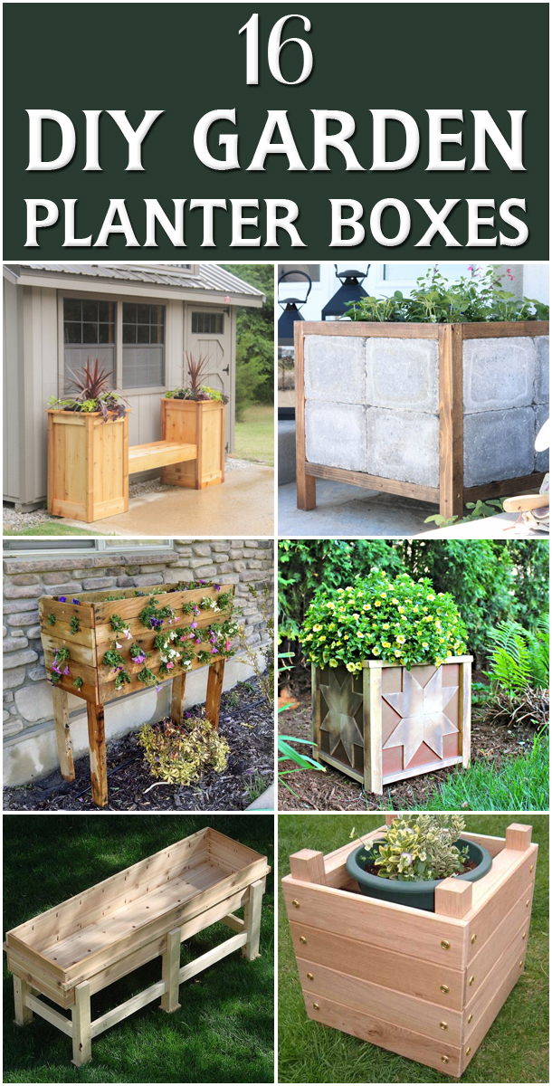16 Outstanding DIY Garden Planter Boxes #Gardening