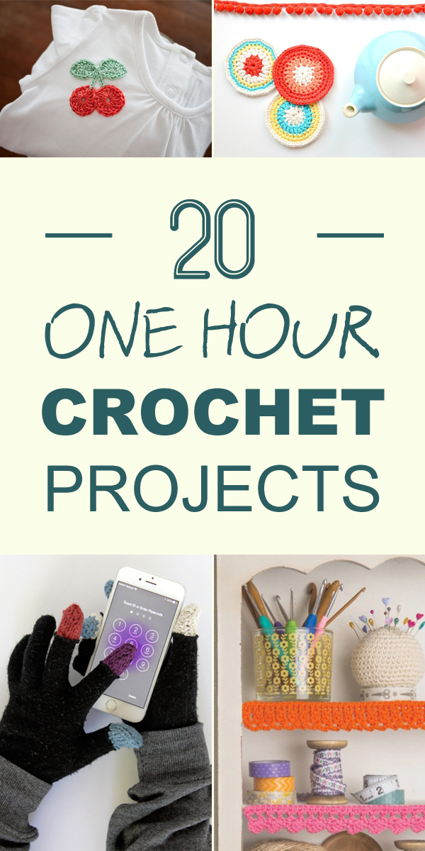 20 One Hour Crochet Projects You'll Want To Try Immediately