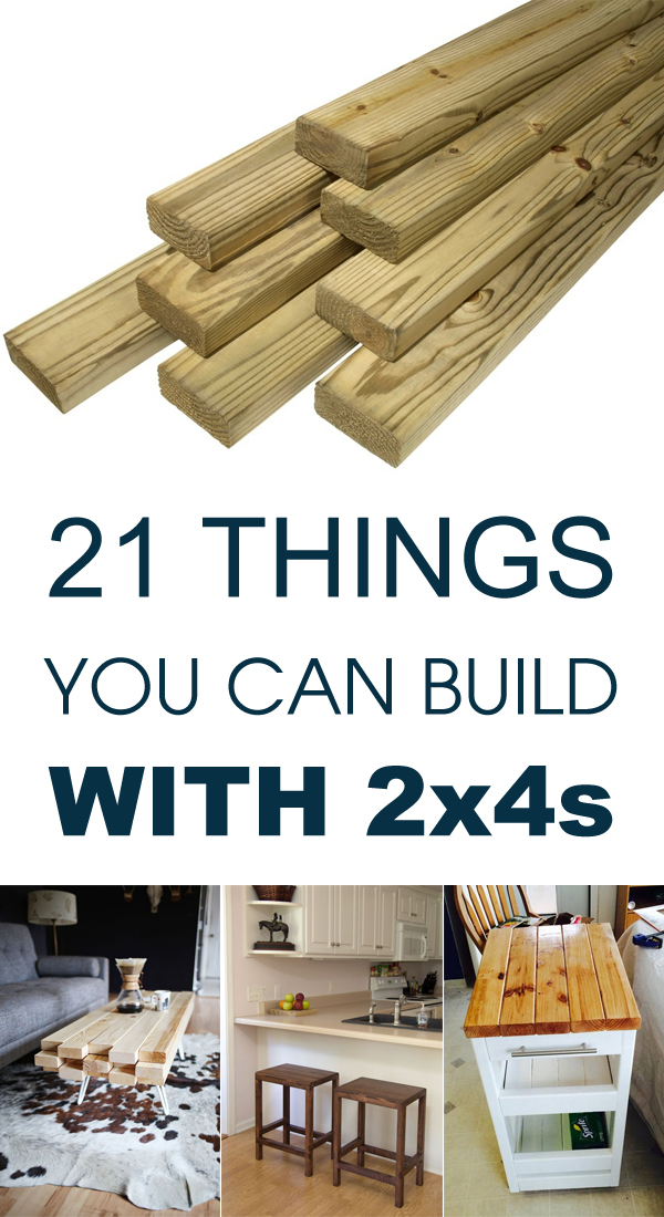 21 things you can build with 2x4s for Easy things to build