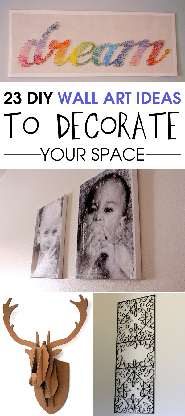 23 DIY Wall Art Ideas to Decorate Your Space #DecoratingIdeas #DIYWallArt