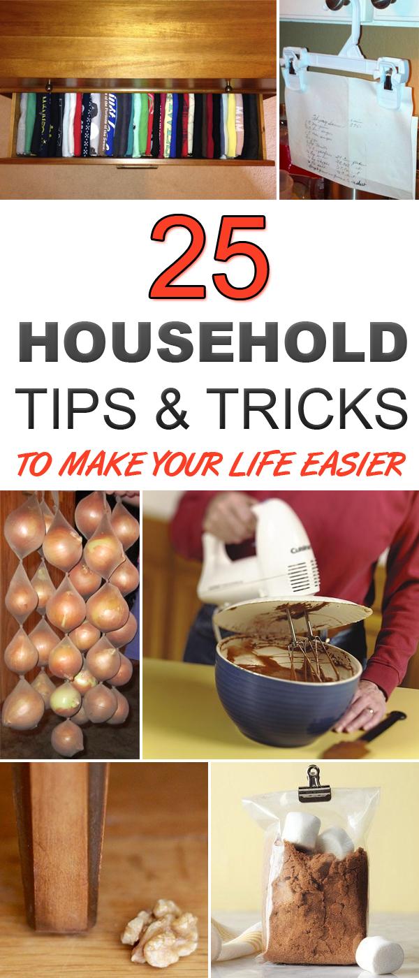 25 Household Tips To Make Your Life Easier #LifeHacks