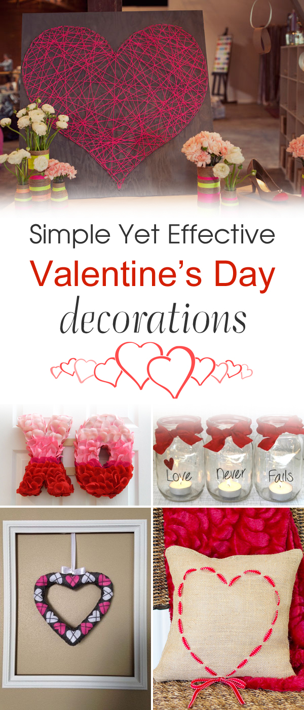 26 Simple Yet Effective DIY Valentine's Day Decorations