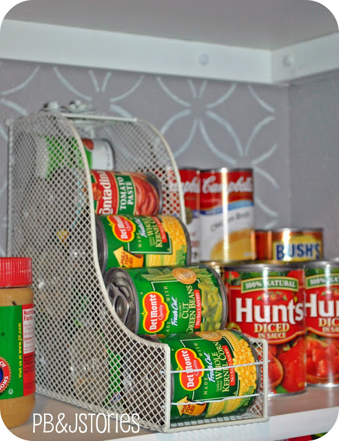 A Magazine Holder Can Also Store Your Canned Foods