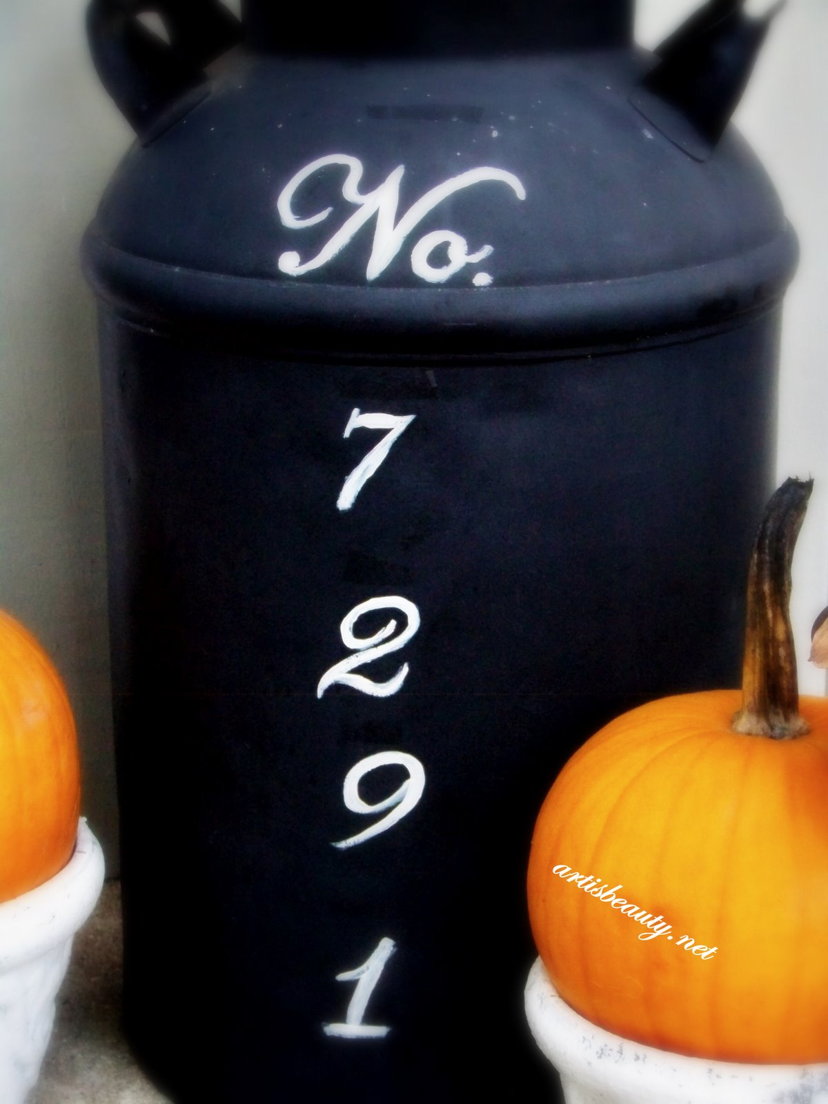 Add a little country charm to your front porch with this cute numbered milk can
