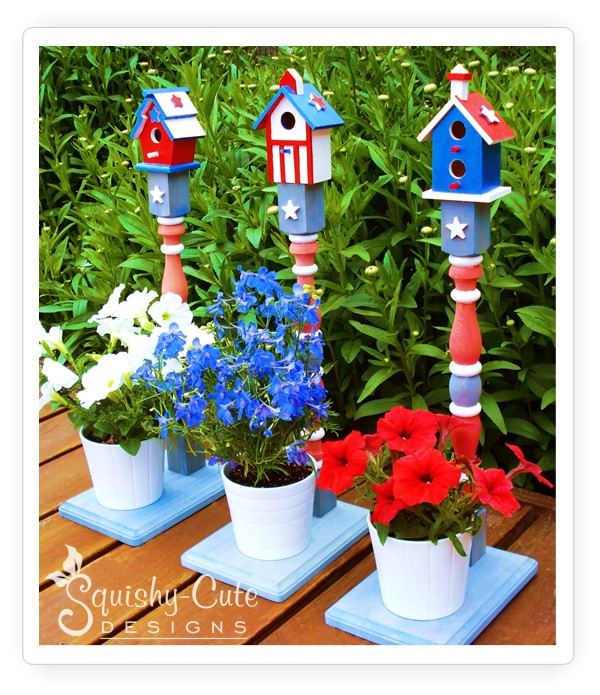 Adorable bird houses and stands for your plants in one