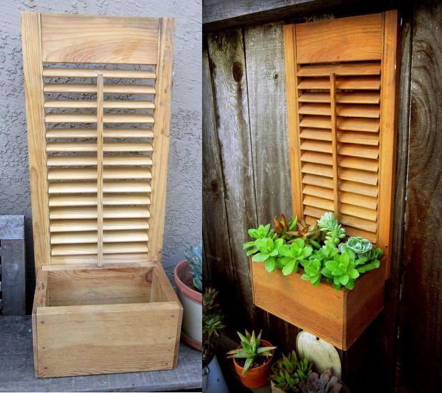 Box +Shutter = Succulent Planter