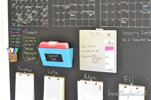 Chalkboard Wall Command Center