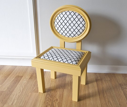 Chic chair made out of two picture frames