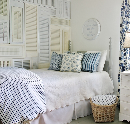 Create a wall of shutters