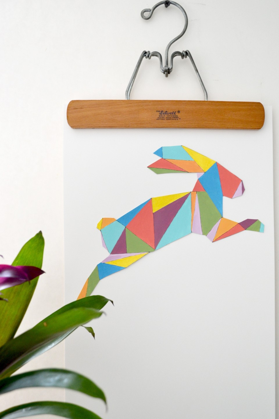 Create colorful Easter wall art