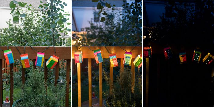Duct Tape Milk Carton Garden Lanterns