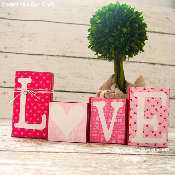 Easy DIY Love Blocks