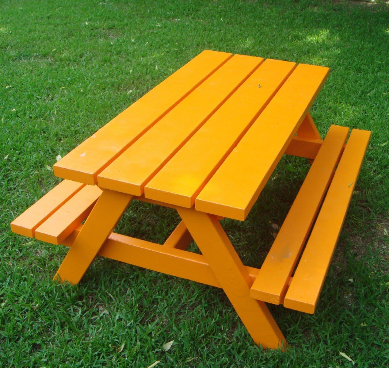 14. Build a Bigger Kid's Picnic Table
