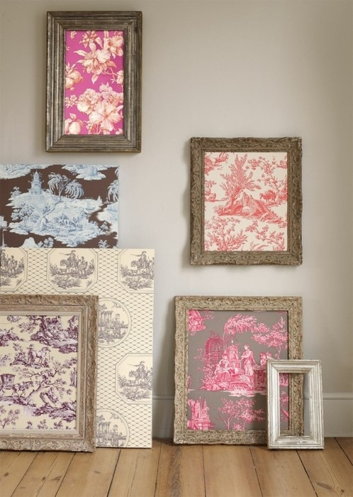 Frame a fabric or wallpaper sample