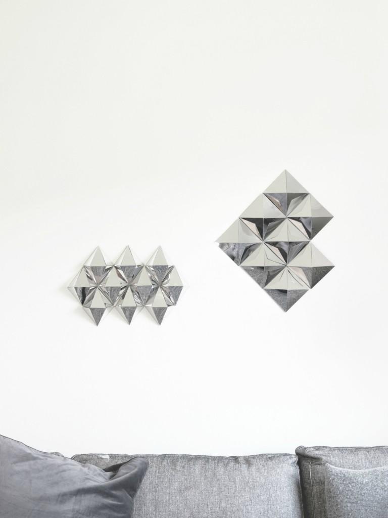 Geometric mirror wall decor
