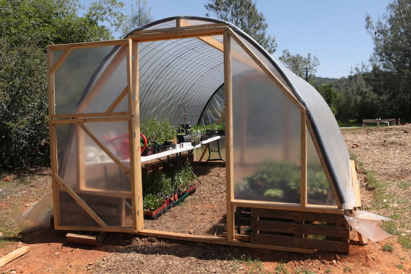 Greenhouse made from pallets