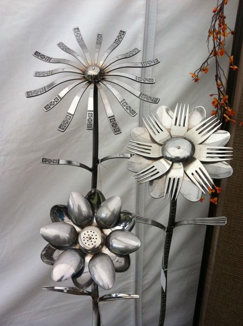 Make Silverware Garden Flowers