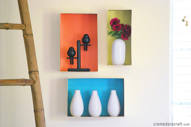 Make a display with shoe boxes
