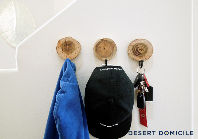 Make a rustic chic coat hook for your entryway