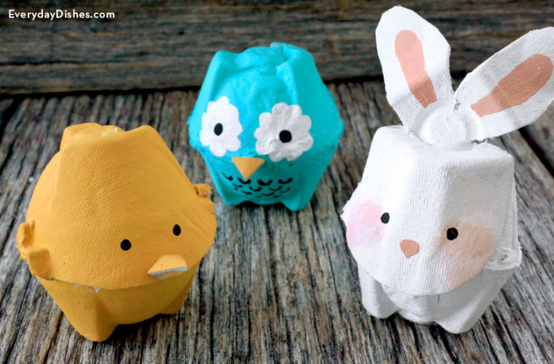Make super cute egg carton animals