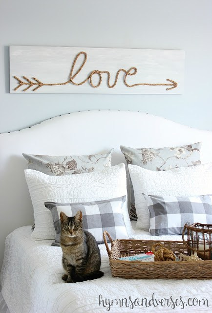 Make this cute jute rope love sign
