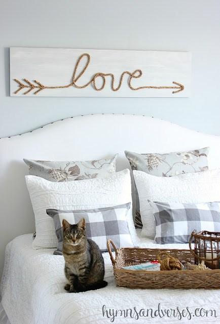 Make this cute jute rope love sign