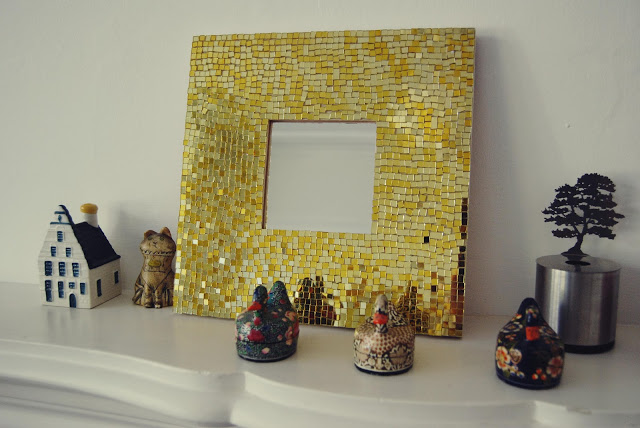 Make your own gold mosaic mirror