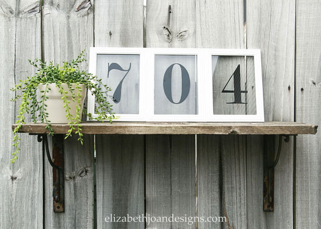 Make your own picture frame house numbers