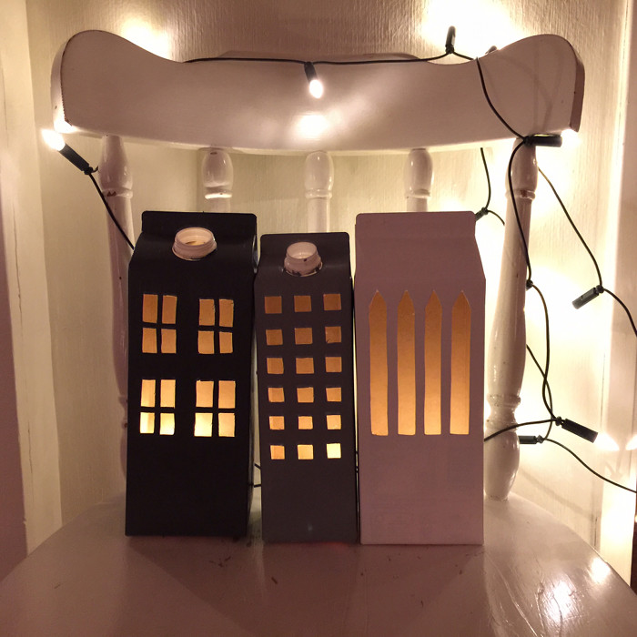 Milk Carton Light Houses