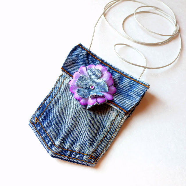 No-Sew Mini Blue Jean Purse