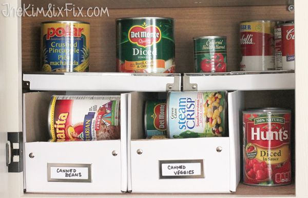 Organizing The Cans With Photo Boxes