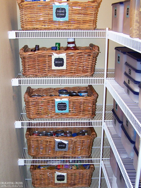 Put Your Cans in Baskets and Label it