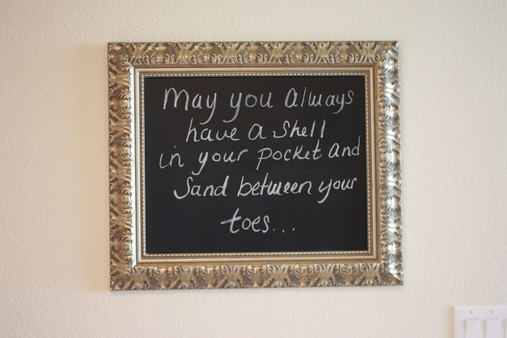 Transform an antique picture frame into a fun chalkboard sign