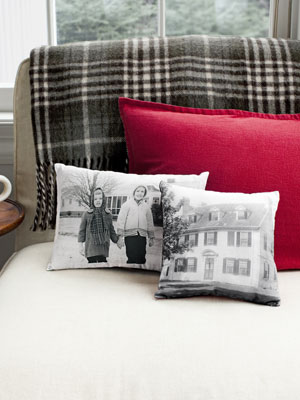 Turn a cherished photograph into a beautiful DIY photo pillow