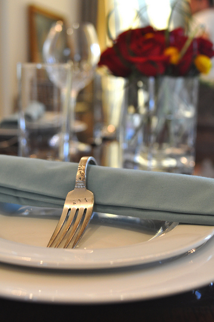 Turn old forks and spoons into beautiful napkin rings