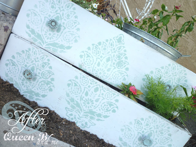 Turn some old drawers into planter boxes