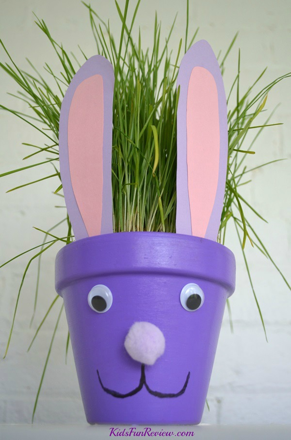 Turn terra cotta pots into adorable Easter bunnies