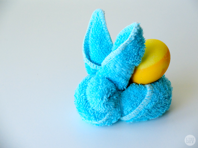 Turn your everyday face towels into this adorable bunny