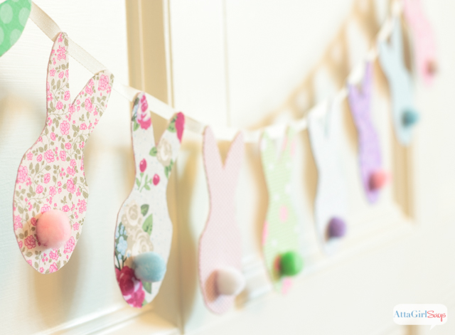 Use fabric scraps in colorful calico prints to make this super simple garland
