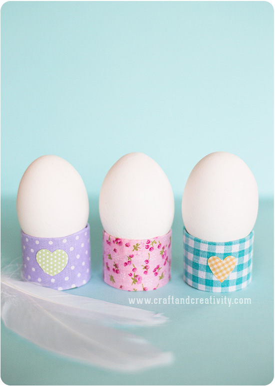 Use toilet rolls to make the egg cups