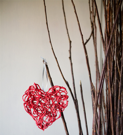 Valentine Yarn Ornaments
