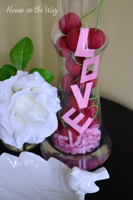 Valentine's Day Bowl Full of Cherries