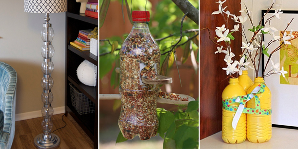25 ways to repurpose plastic bottles into cute home and for Things to do with plastic bottles