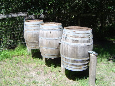 Wine Barrel Compost Bins